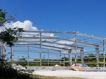 Steel Building in Eleuthera Bahamas