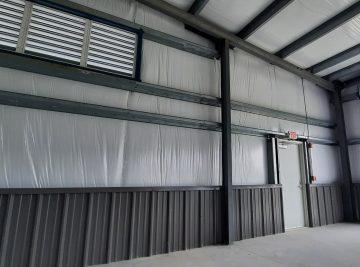 steel building canopy