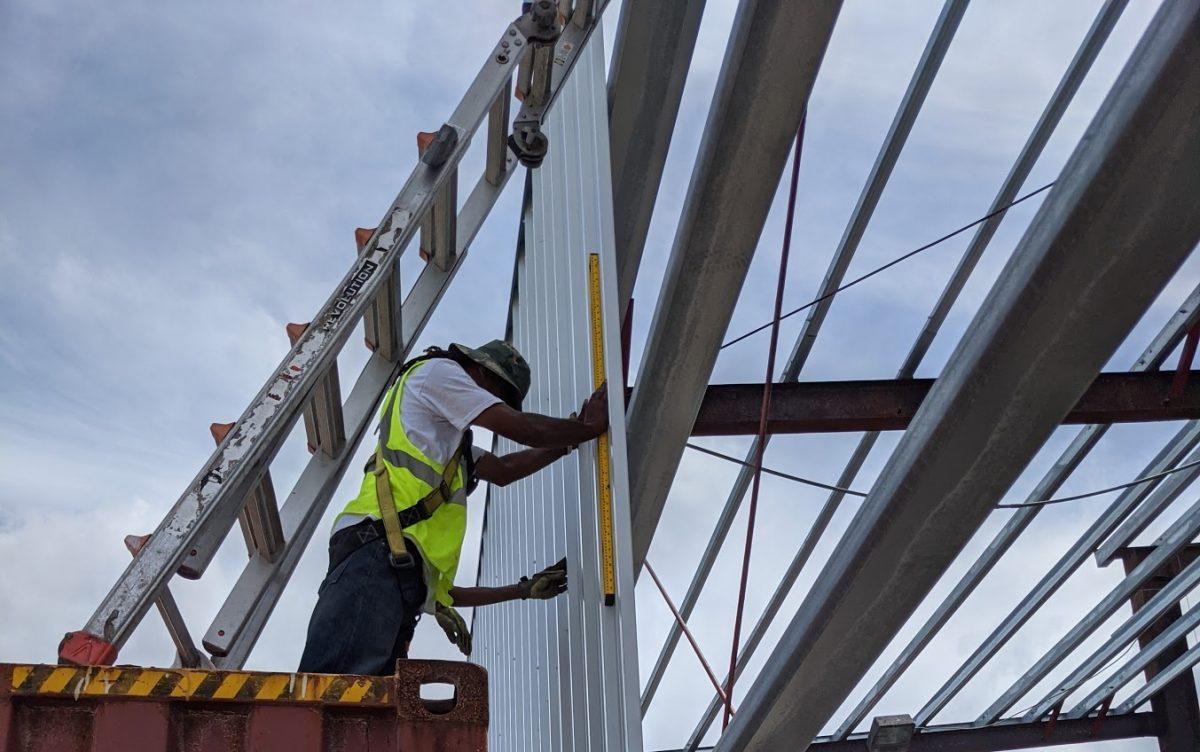 steel building installation in Nassau Bahamas